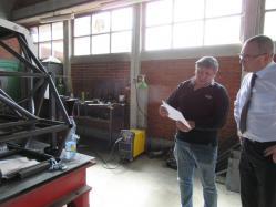 plan et réalisation d'un chassis de voiture