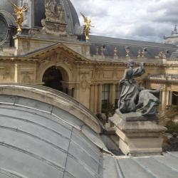 Lucarne Petit Palais, vue sur les toits du Grand Palais