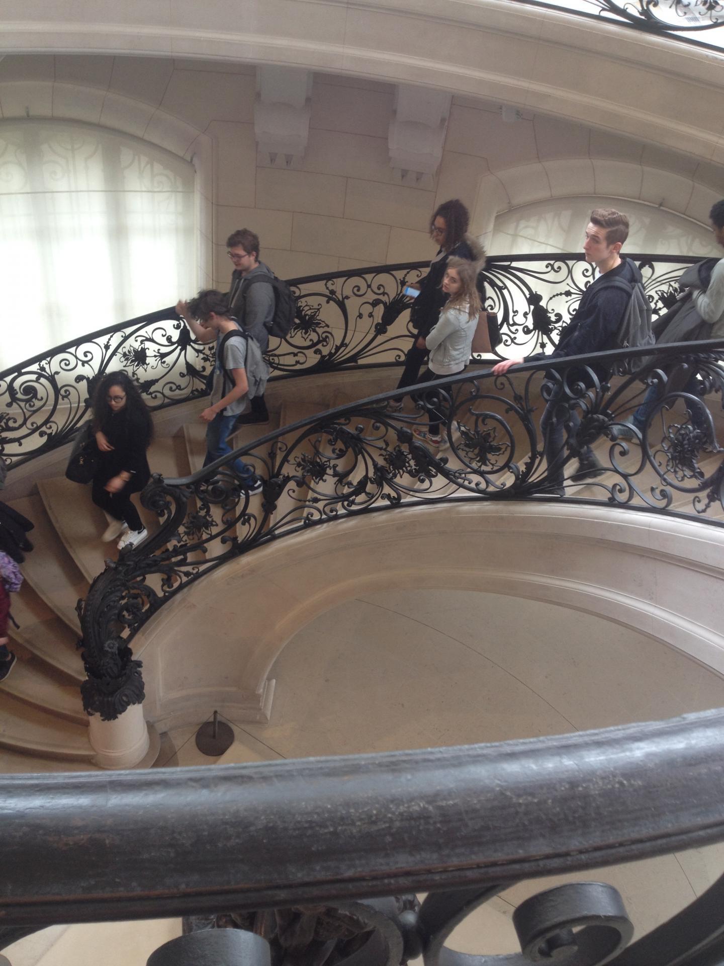 le grand escalier des réserves