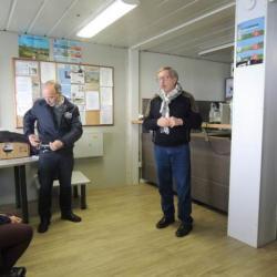 Monsieur VALMAGE, Le président de l'aéroclub et Monsieur Curilli, un instructeur